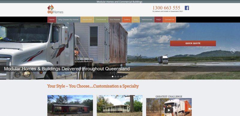 Oly Homes Website Development Testimonial