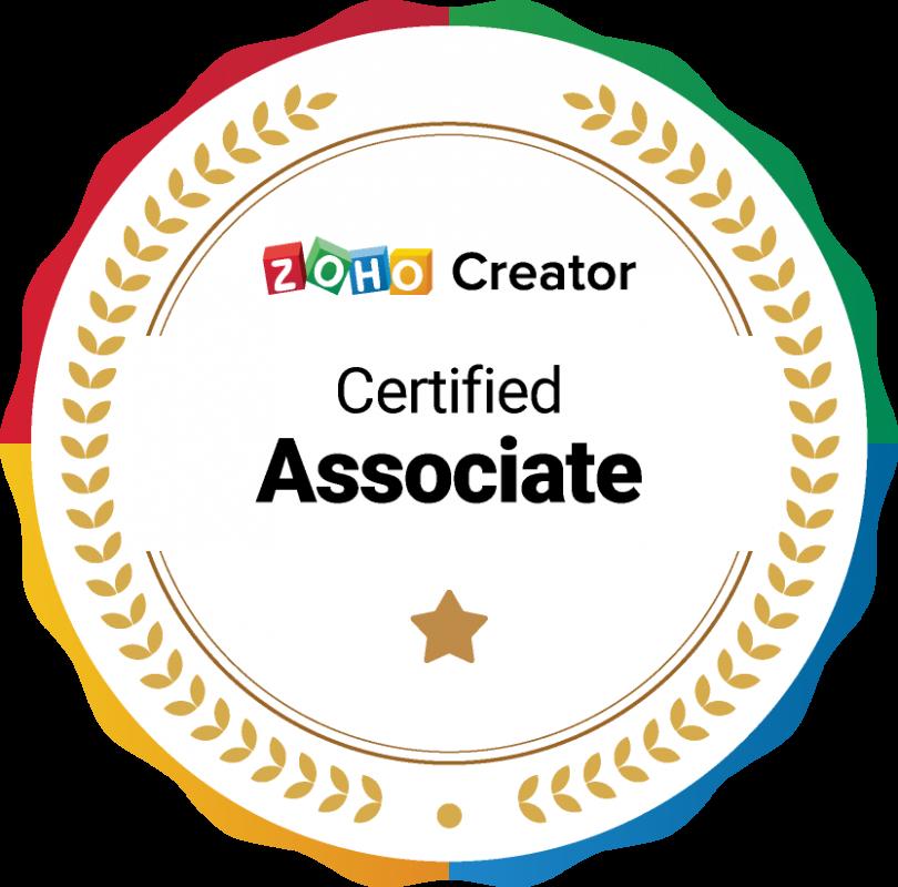 Zoho Creator Certified Associate