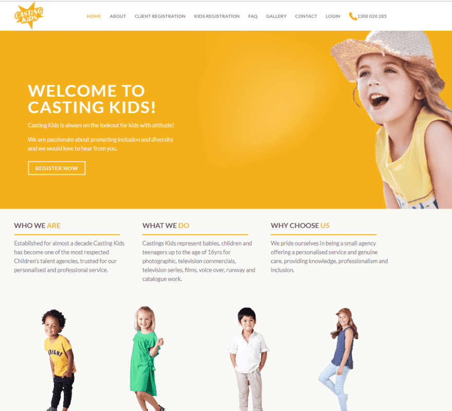 How Casting Kids' New Website Helps Boost Their Business
