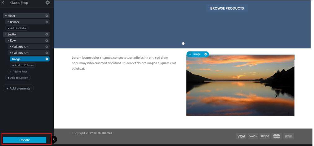 Updating Images in UX Builder on WordPress