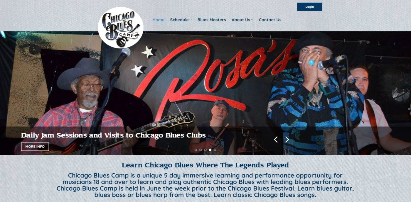 Catching Up with Chicago Blues Camp: How Their Website Aids in Their Success